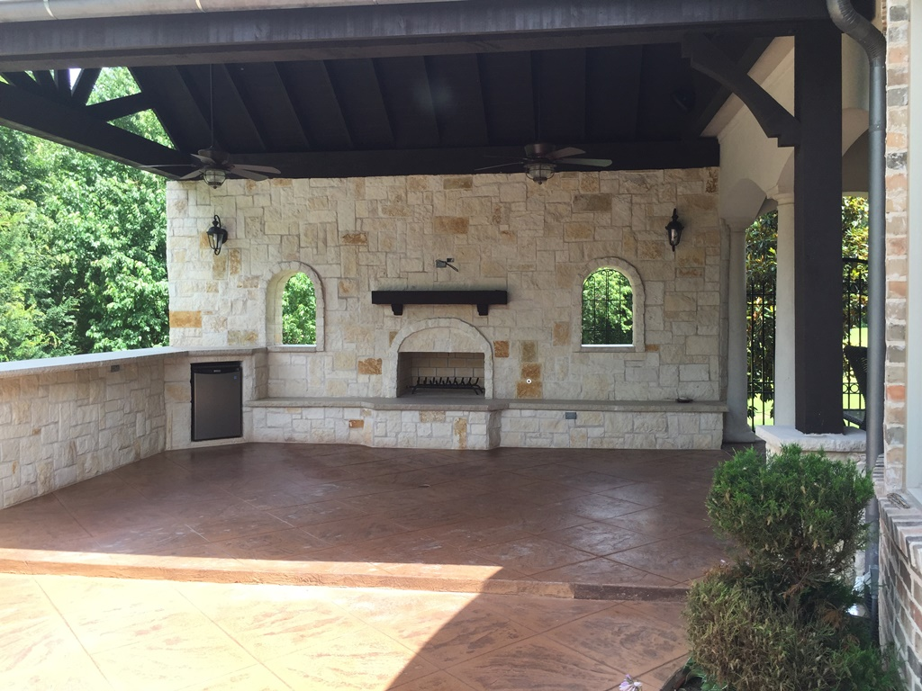 Scott design construction outdoor fireplaces in allen Home and garden show allen tx