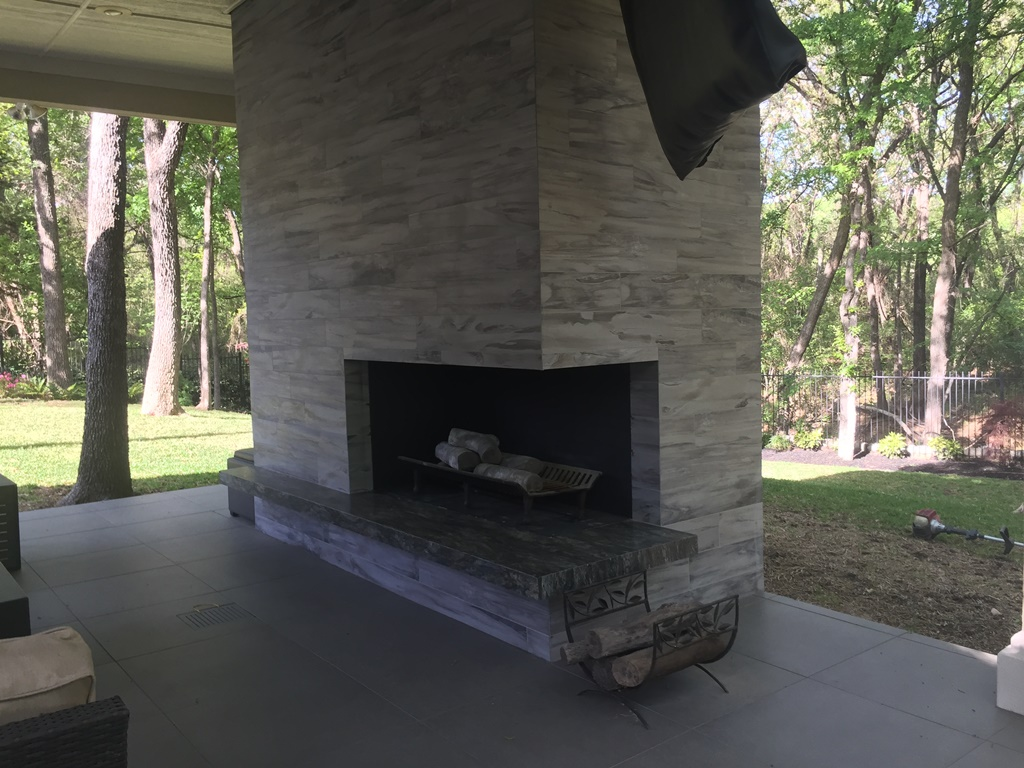 Make Your Patio Usable in the Winter with an Outdoor Fireplace
